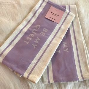 NWT KATE SPADE KITCHEN TOWELS 2 PC SET BE MY GUEST